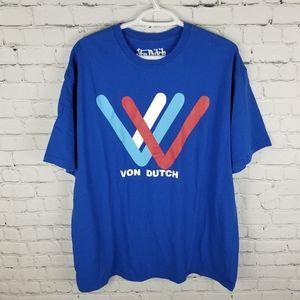 VON DUTCH   logo spellout short sleeve tee t-shirt